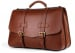 Chestnut Harness Belting Leather Lawyers Briefcase Frank Clegg Made In Usa 4