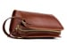 Chestnut Large Tumbled Leather Travel Kit Frank Clegg Made In Usa 10