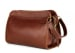Chestnut Large Tumbled Leather Travel Kit Frank Clegg Made In Usa 2
