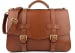 Chestnut Leather Small Lawyers Briefcase Frank Clegg Made In Usa 1