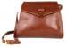 Chestnut Tumbled Leather Tuscany Shoulder Bag Frank Clegg Made In Usa 1