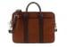 Chevre Goatskin Commuter Briefcase Antique Brown 1
