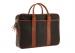 Chevre Goatskin Commuter Briefcase Dark Brown 4