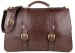 Chocolate Harness Belting Leather Lawyers Briefcase Frank Clegg Made In Usa 1