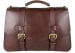 Chocolate Leather Small Lawyers Briefcase Frank Clegg Made In Usa 1 1