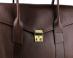 Chocolate Lock Satchel Frank Clegg Made In Usa 5
