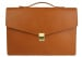 Cognac Leather Lock Portfolio With Handle 1