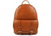Cognac Zipper Leather Backpack 1