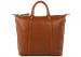 Cognac Zipper Tote Bag 2