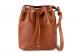 Cognac Cara Draw String Bag Frank Clegg Made In Usa 1