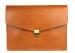 Cognac Harness Belting 15  Leather Lock Portfolio Case Frank Clegg Made In Usa 1