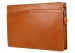 Cognac Harness Belting 15  Leather Zipper Portfolio Case Frank Clegg Made In Usa 3 2