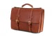 Cognac Leather American Briefcase Frank Clegg Made In Usa 4