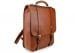 Cognac Leather Buckle Backpack Frank Clegg Made In Usa 2