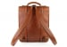 Cognac Leather Buckle Backpack Frank Clegg Made In Usa 3