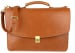 Cognac Leather Wall Street Briefcase Frank Clegg Made In Usa 2
