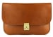 Cognac Lock Clutch Frank Clegg Made In Usa 2