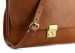 Cognac Lock Clutch Frank Clegg Made In Usa 7