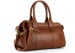 Cognac Small Leather Signature Satchel Frank Clegg Made In Usa 2
