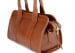 Cognac Small Leather Signature Satchel Frank Clegg Made In Usa 6