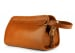 Cognac Small Tumbled Leather Travel Kit Frank Clegg Made In Usa 2 1