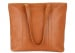 Large Tan Handmade Leather Laurlie Ziptop Tote Bag Made In Usa 9 Raw