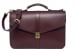 Leather Lock Briefcase Burgundy Leather 3