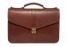 Leather Lock Briefcase Chestnut Leather 7
