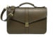 Leather Lock Briefcase Olive Leather 3