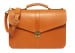 Leather Lock Briefcase Tan Leather 3