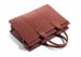 Leather Zip Top Briefcase Double Chestnut8