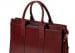 Leather Zip Top Briefcase Double Maroon10