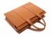 Leather Zip Top Briefcase Single Cognac7