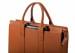 Leather Zip Top Briefcase Single Cognac9
