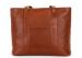 Medium Cognac Handmade Leather Laurlie Ziptop Tote Bag Made In Usa 5