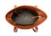 Medium Cognac Handmade Leather Laurlie Ziptop Tote Bag Made In Usa 7
