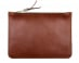 Medium Cognac Zipper Pouch Made In Usa Frank Clegg 1