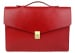 Red Leather Lock Portfolio With Handle 1