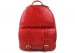 Red Zipper Leather Backpack 1