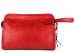 Red Large Tumbled Leather Travel Kit Frank Clegg Made In Usa 1