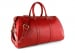 Red Leather Duffle Bag Hampton Frank Clegg 3