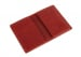 Red Leather Folding Card Wallet Frank Clegg Made In Usa 3