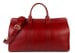 Red Signature Leather Duffle Bag Frank Clegg Made In Usa 1 2