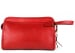 Red Small Tumbled Leather Travel Kit Frank Clegg Made In Usa 1