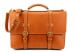 Tan Leather American Briefcase Frank Clegg Made In Usa 1