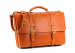 Tan Leather American Briefcase Frank Clegg Made In Usa 2