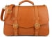 Tan Leather Small Lawyers Briefcase Frank Clegg Made In Usa 1