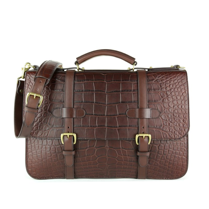 Alligator English Briefcase in American Alligator