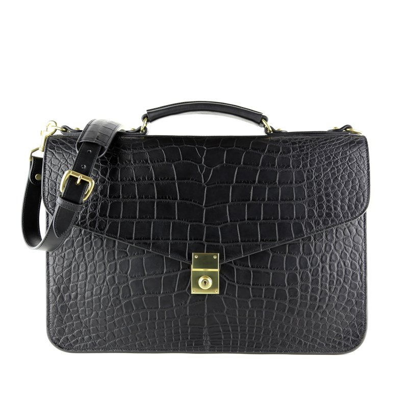Alligator Lock Briefcase  in American Alligator