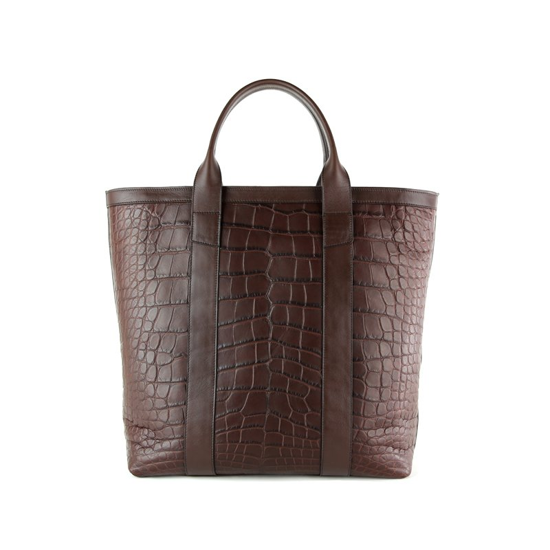 Alligator Zipper Tote Bag  in American Alligator